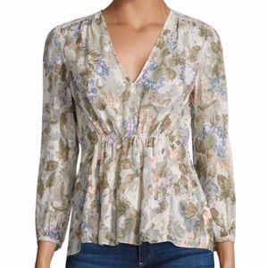 Rebecca Taylor Penelope silk blouse size 2